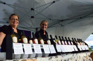 Vendors sell flavored oils / vinegars at Kirkland Uncorked