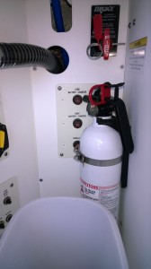Fire extinguisher on my Formula 31PC